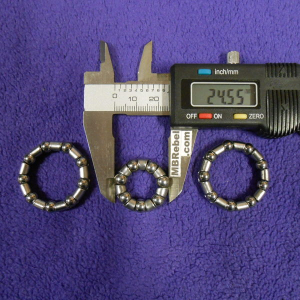 Coaster Brake Rear Hub Bearings Bicycle Bike 7/32x9 (2 pcs), 1/4x7 (1 pcs)