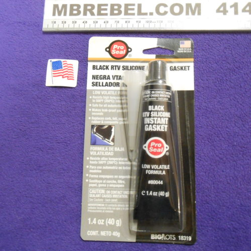 Gasket Sealant Black RTV 1.4oz Tube Pro Seal MBRebel.com