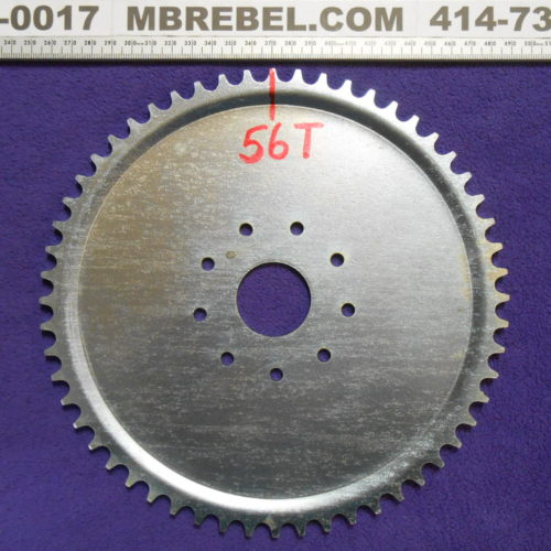 Steel 56 Tooth Sprocket fits 9 Hole Rubber Mount Motorized Bicycle MBRebel.com