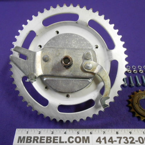 Large Moped Drum Brake Hub 36 Hole with 54 tooth Sprocket 100mm Drum MBRebel.com
