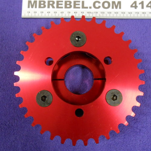 Red Anodized 36 Tooth Sprocket & Adapter 1.5inch For Coaster Brake Hubs MBRebel.com