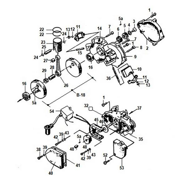 125cc Super Pocket Bike Engine Diagram