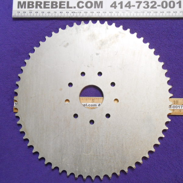 Steel 60 Tooth Sprocket fits 9 Hole Rubber Mount Motorized Bicycle