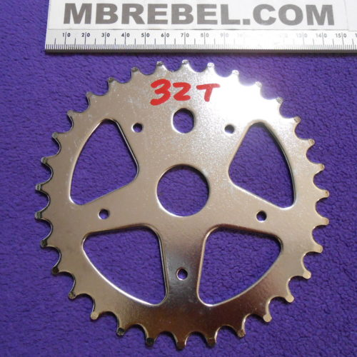 32 Tooth Pedal Sprocket Chainring fits 7 Speed Chain Low positioning of motor MBRebel.com