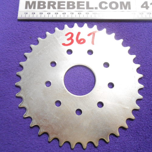 36 Tooth Sprocket for 410 or 415 Chain Flat MBRebel.com