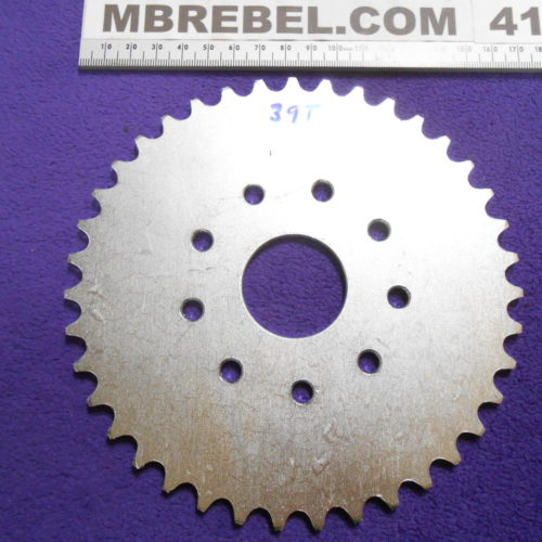 39 Tooth Sprocket for 415 Chain Flat 9 Hole Mount Motorized Bicycle MBRebel.com