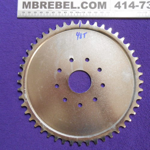 Steel 48 Tooth Sprocket fits 9 Hole Rubber Mount 415 chain #41 Motorized Bicycle MBRebel.com