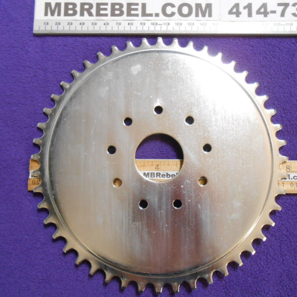 Steel 48 Tooth Sprocket fits 9 Hole Rubber Mount Motorized Bicycle